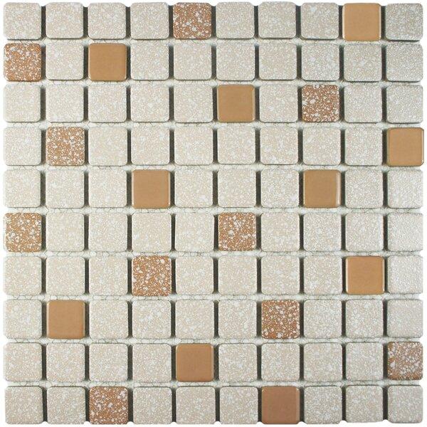 Minerva 1.1 x 1.1 Porcelain Mosaic Tile in Beige by EliteTile