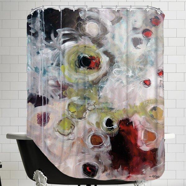 Eruptus 1.1 Shower Curtain by East Urban Home