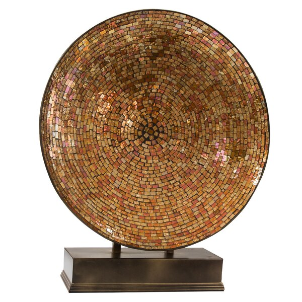 Karlson 23.75D Oversized Mosaic Hvar Platter on Base by Bloomsbury Market
