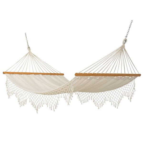 Blithedale Canvas Tree Hammock with Fringe by High