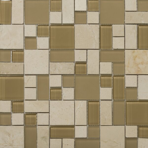 Lucente 13 x13 Glass Stone Blend Pattern Mosaic Tile in Murano by Emser Tile