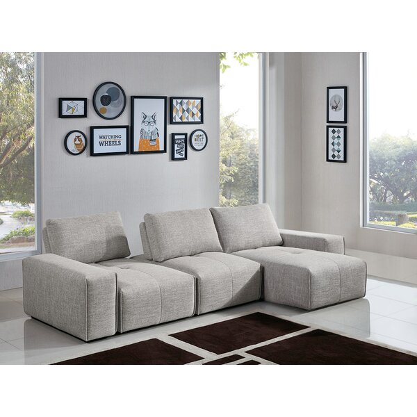 Jazz 3-Seater Reversible Chaise Sectional by Diamond Sofa