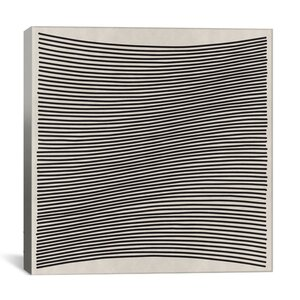 'Modern Wavy Lines' Graphic Art on Canvas by iCanvas