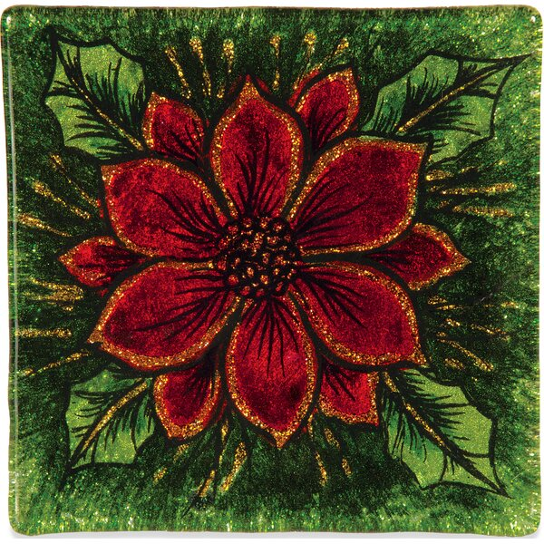 Poinsettia Christmas Coaster (Set of 8) by Angelstar