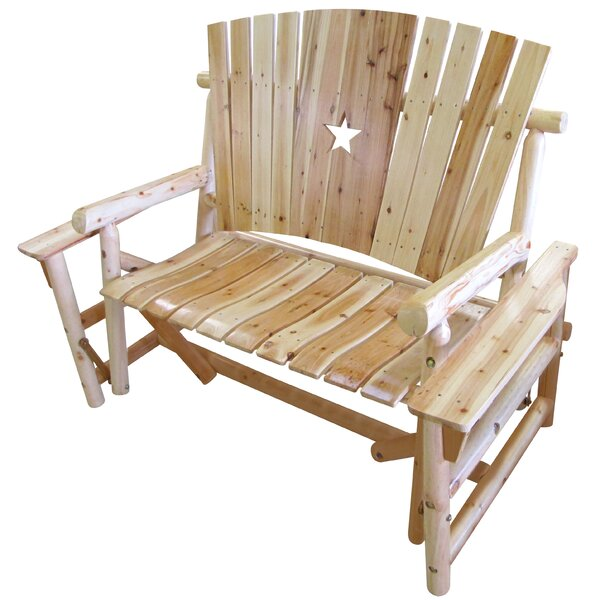 Alaniz Star Glider Bench by Millwood Pines