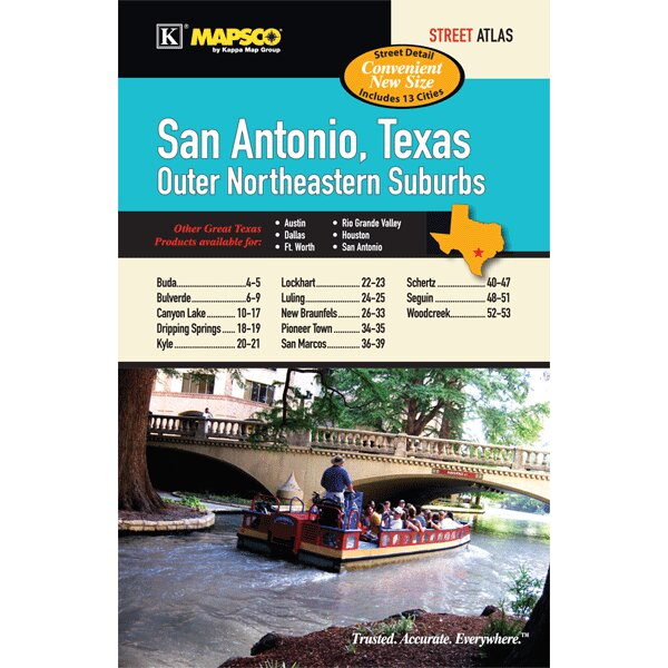 San Antonio Outer Northeast Suburbs Cities and Towns Atlas by Universal Map