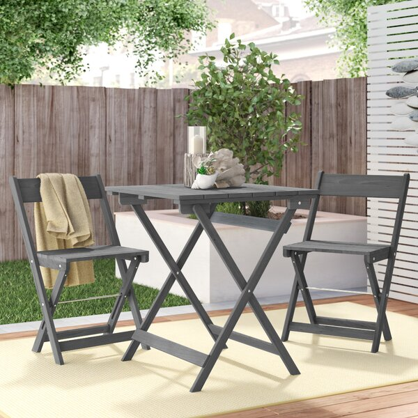 Katniss 3 Piece Bistro Set by Beachcrest Home