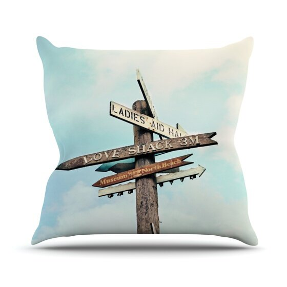 Love Shack by Sylvia Cook Outdoor Throw Pillow by East Urban Home