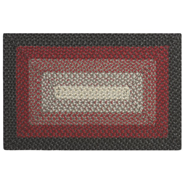 French Hand-Braided Red/Black Area Rug by CompanyC