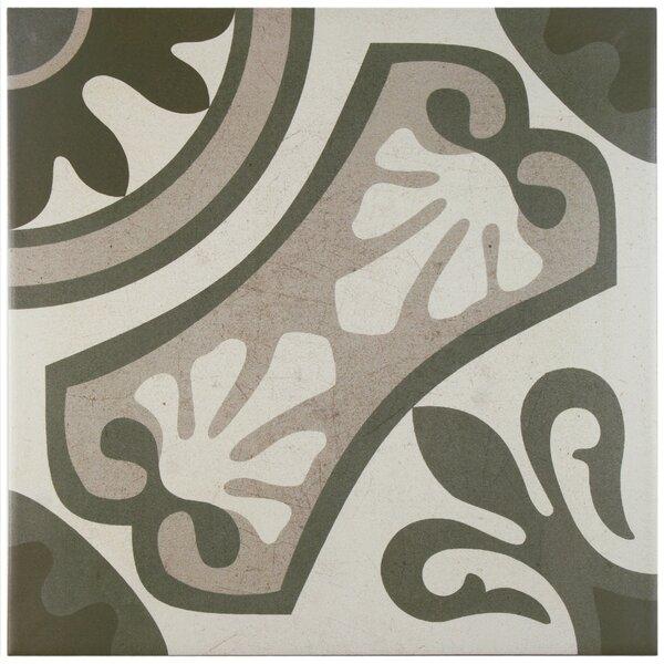 Serdi 13 x 13 Ceramic Field Tile in Beige/Gray by EliteTile
