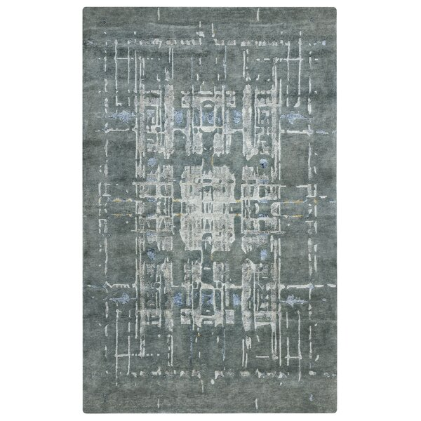 Dominican Hand-Knotted Gray Area Rug by Meridian Rugmakers