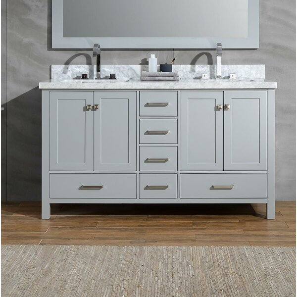 Joseline 61 Double Bathroom Vanity Set by Mercer41