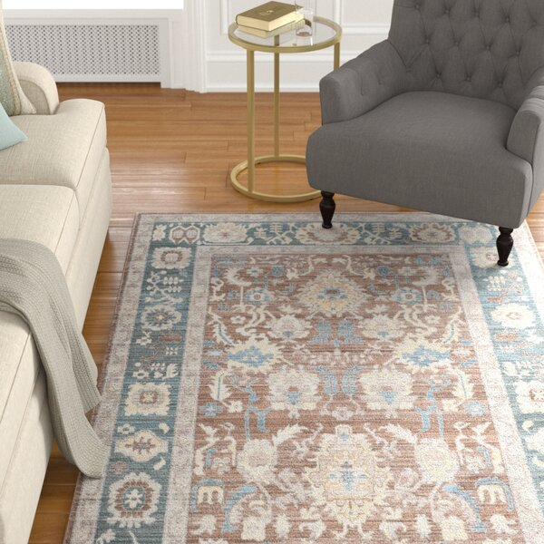 Regis Chocolate/Alpine Area Rug by Charlton Home