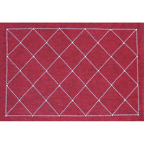 Rhinestone Criss Crosses Placemat by Sparkles Home
