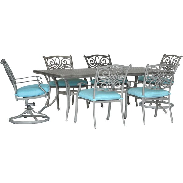 Woen 7 Piece Dining Set with Cushion by Charlton Home