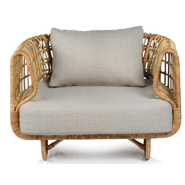 Post Rattan Armchair by Bayou Breeze