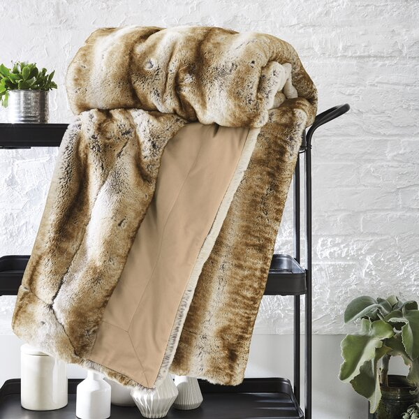 Romsey Faux Fur Blanket by Everly Quinn