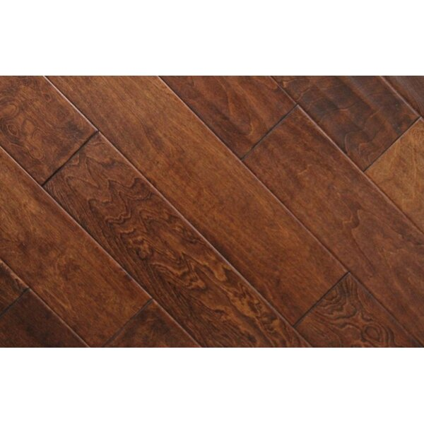 5 Solid Maple Hardwood Flooring in Brown (Set of 16) by Chic Rugz