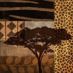Safari Giclée Framed Graphic Art by PTM Images