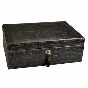 Luxury Lockable Leatherette Jewelry Box