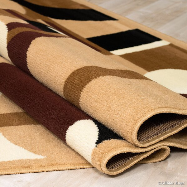 Brown Area Rug by AllStar Rugs