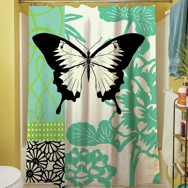 Butterfly Journey I Shower Curtain by Manual Woodworkers & Weavers