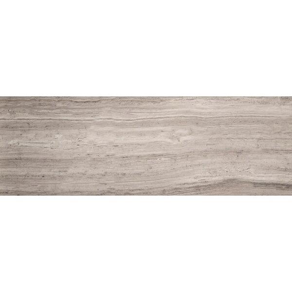 Metro 6 x 24 Marble Wood Look Tile in Vein Cut Honed Gray by Emser Tile