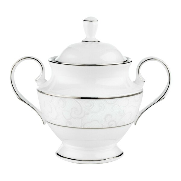 Venetian Lace Sugar Bowl with Lid by Lenox