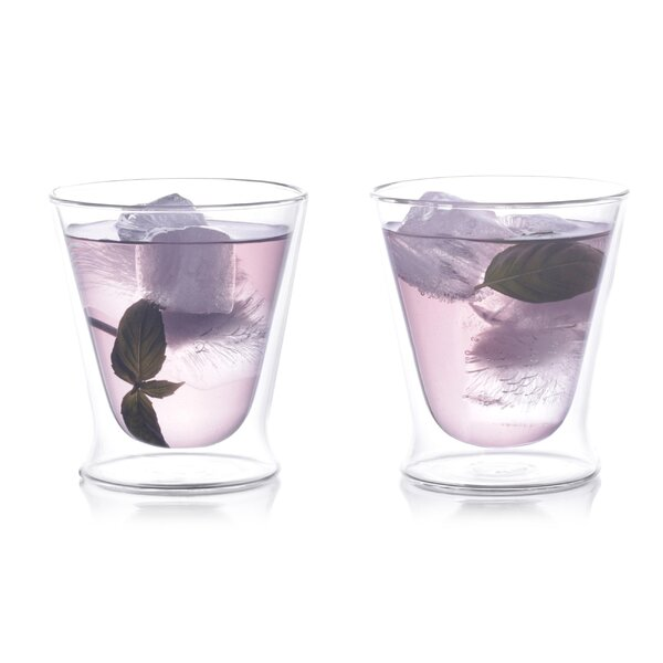 10 Oz. Double Wall Tumbler Glass (Set of 2) by Eparé