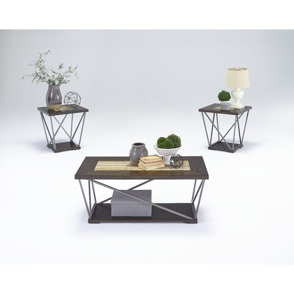 Siri 3 Piece Coffee Table with Storage by Wrought Studio Wrought Studio™