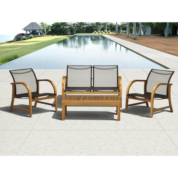 Johannes 4 Piece Sofa Seating Group by Latitude Run