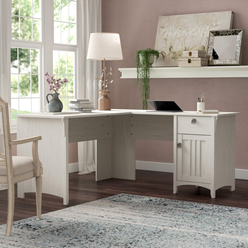 Three Posts Salina L-Shape Desk & Reviews