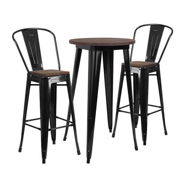 Mullenax Round 3 Piece Dining Set by Williston Forge