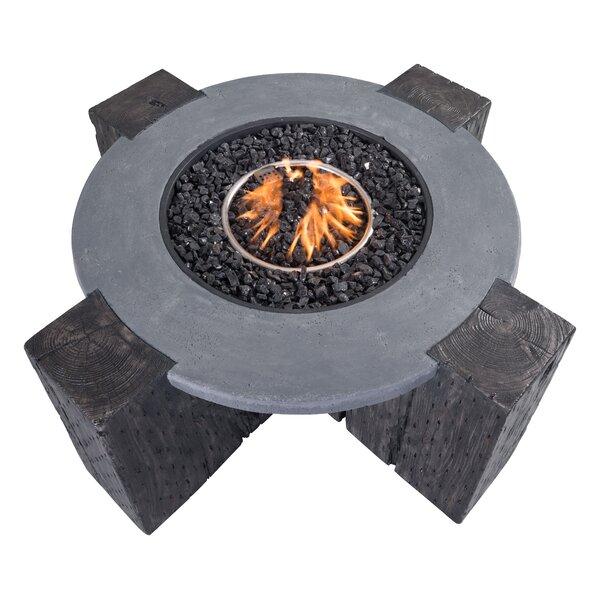 Concrete Propane Fire Pit Table by dCOR design