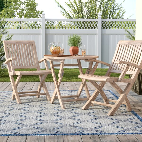 Balmer Teak 3 Piece Bistro Set by Darby Home Co
