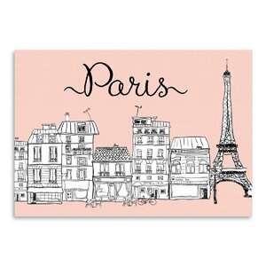 Paris Graphic Art in Pink by East Urban Home