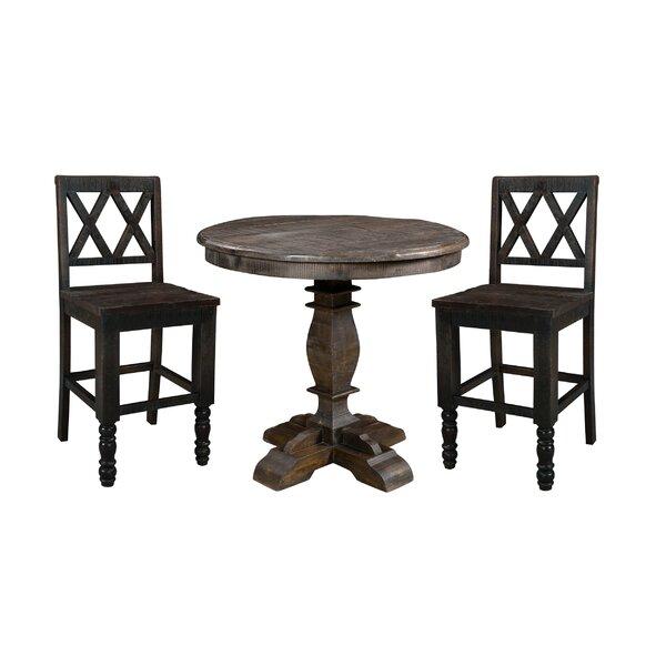 Cummings Round 3 Piece Pub Table Set by Loon Peak