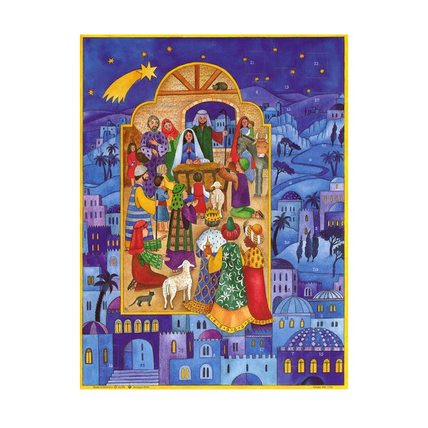 Sellmer Large Nativity Window Advent Calendar by The Holiday Aisle