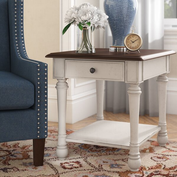 Dortch End Table With Storage by Highland Dunes