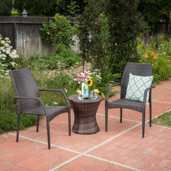 Zolan 3 Piece Conversation Set by Wrought Studio