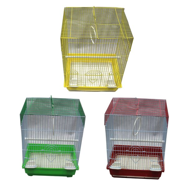 Small Flat Top Bird Cage (Set of 6) by Iconic Pet