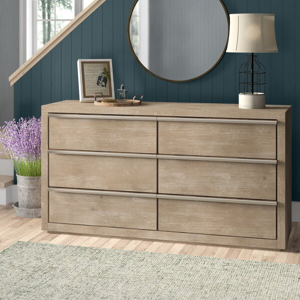 Oscoda 6 Drawer Double Dresser by Gracie Oaks