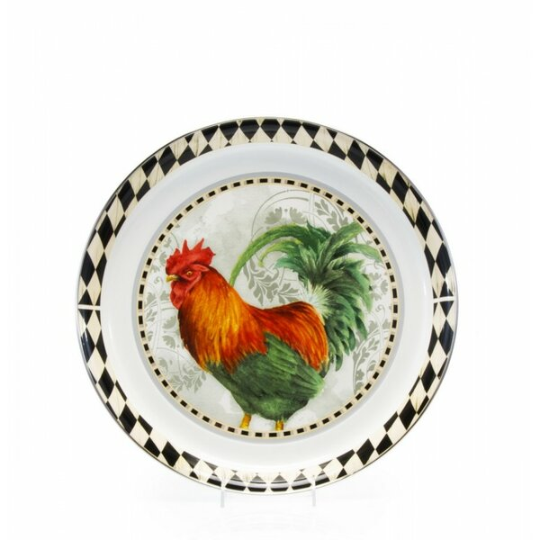 Burrier Rooster Royale Platter by Fleur De Lis Living