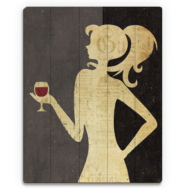 Woman of Wine Graphic Art on Plaque by Click Wall Art