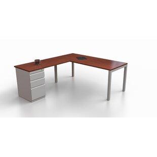 Affordable Price Trig L-Shape Corner Desk by Trendway