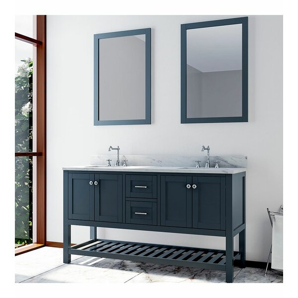 Benavidez 61 Double Bathroom Vanity Set with Mirror
