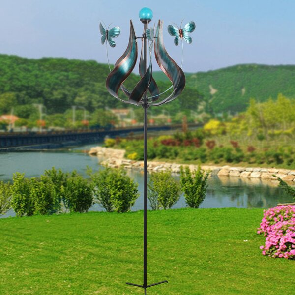 Outdoor Tulip Kinetic Windmill by Peaktop