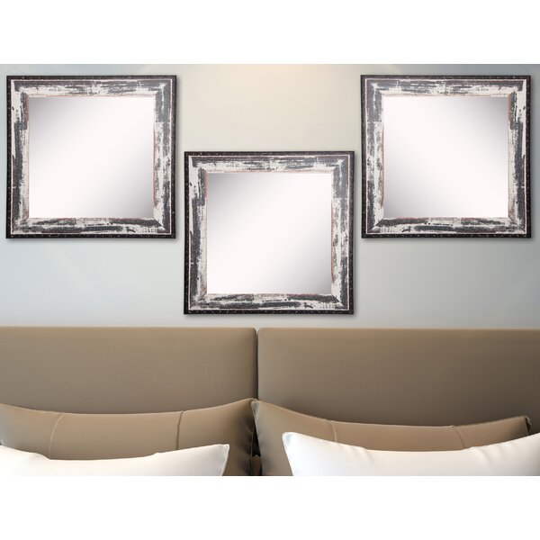 Letendre Rustic Seaside Wall Mirror (Set of 3) by Rosecliff Heights