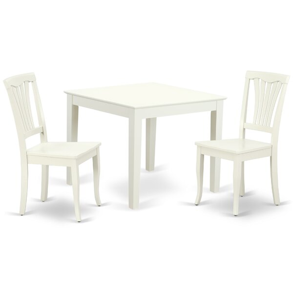Lake Macquarie 3 Piece Solid Wood Dining Set by August Grove