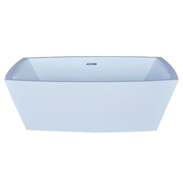 Heir 67 x 31.38 Rectangle Acrylic Freestanding Bathtub by Spa Escapes